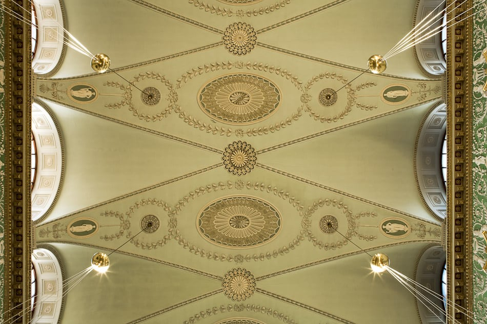 ceiling exam hall interior tcd commercial location photograph dublin john jordan photgraphy