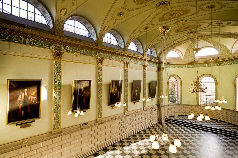 exam hall interior trinity tcd commercial location photograph dublin john jordan photgraphy