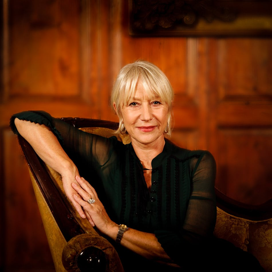 Portrait of Helen Mirren, Actress, Trinity College, Dublin