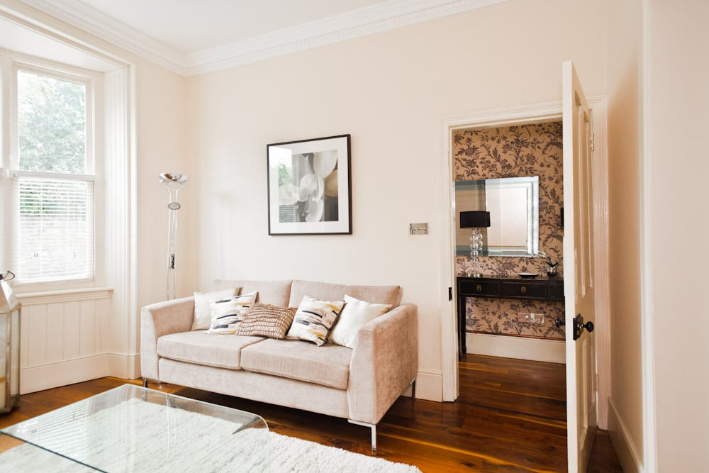 Architectural real estate property photography done for Living room dublin